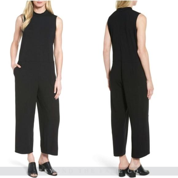 9438e4c4c98 Eileen Fisher Pants | Nwt Jersey Crop Wide Leg Jumpsuit | Poshmark
